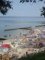 Plaża w Jarosławcu przy zejściu nr 4