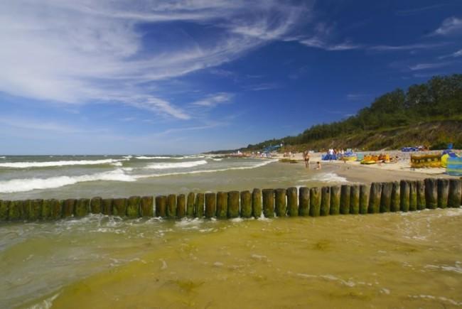 Plaża za przystanią
